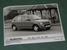 "SUBARU THE NEW ViViO GLi 4WD (K reg) factory issued 8x6"" press photo"